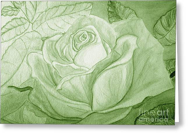 Vert Greeting Card by Heather  Hiland