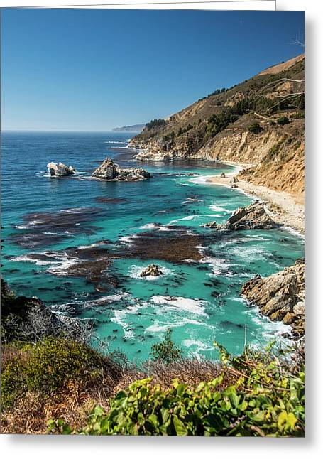 Vertical Big Sur Coastline California Greeting Card