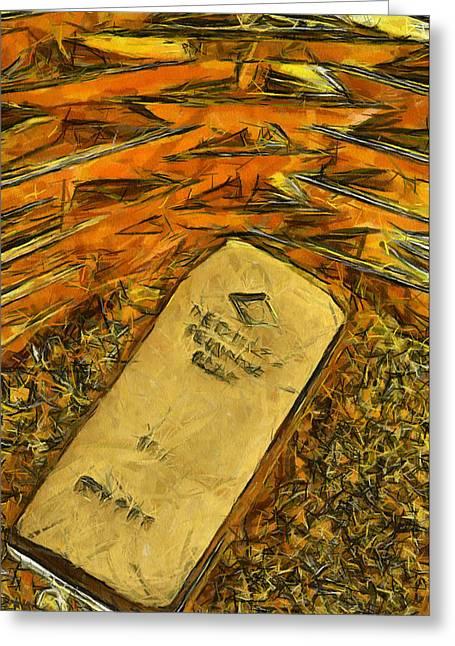 Very Beautiful Gold Ingots Greeting Card by Teara Na