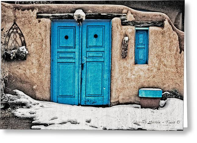Very Blue Door Greeting Card
