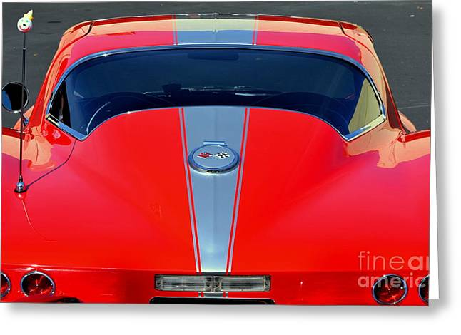 Very Cool Corvette Greeting Card