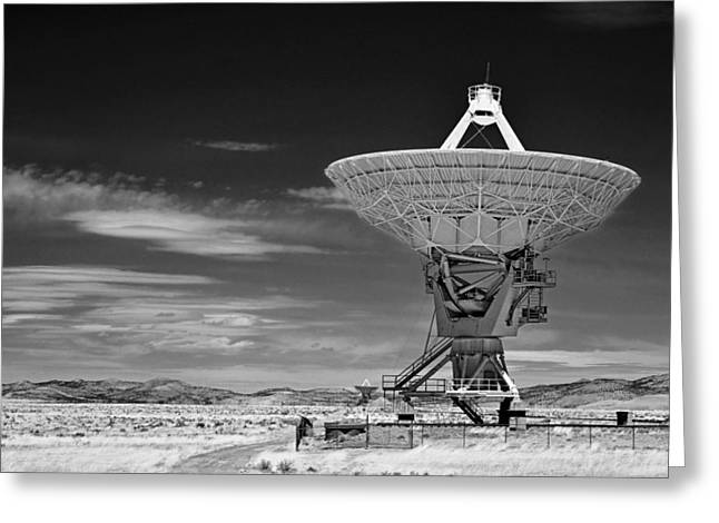 Very Large Array Radio Telescopes Greeting Card by Christine Till