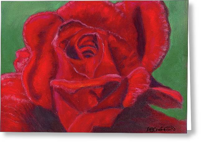 Very Red Rose Greeting Card by Arlene Crafton