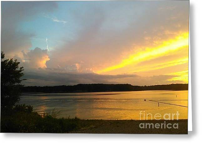 Vespers On Lithia Springs Beach At Sunset Greeting Card