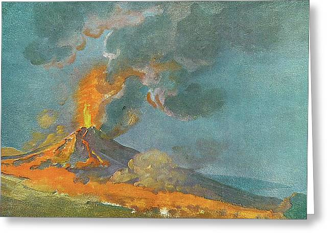 Vesuvius In Eruption 1774 Greeting Card by Sheila Terry