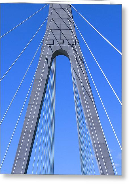 Veterans Memorial Bridge Over The Ohio River Greeting Card