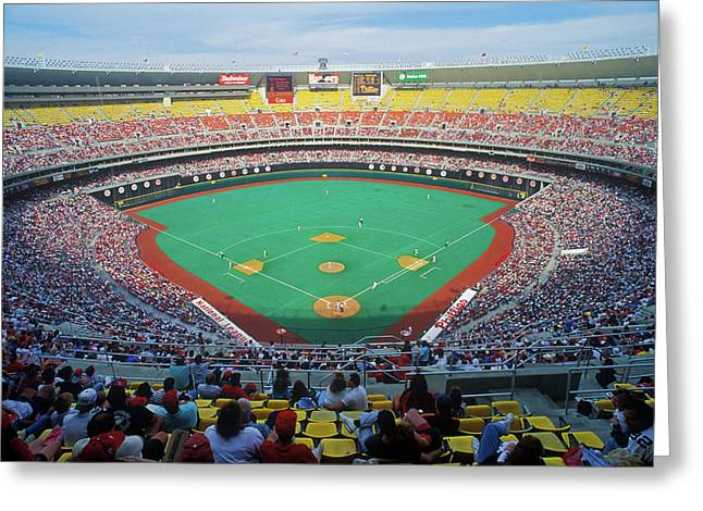 Veterans Stadium During Major League Greeting Card