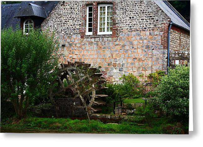 Veules Les Roses Watermill Greeting Card