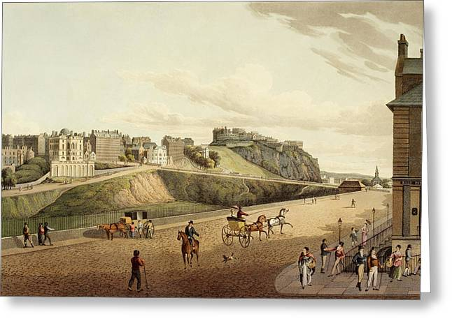 Vew Of The Old Town In Edinburgh Greeting Card by British Library