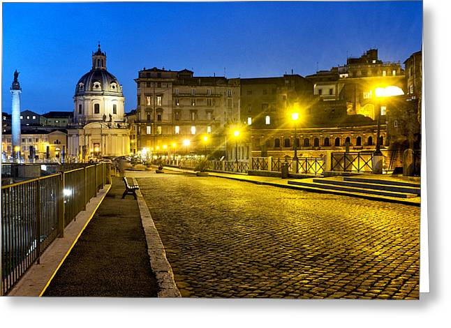 Via Alessandrina Greeting Card by Fabrizio Troiani