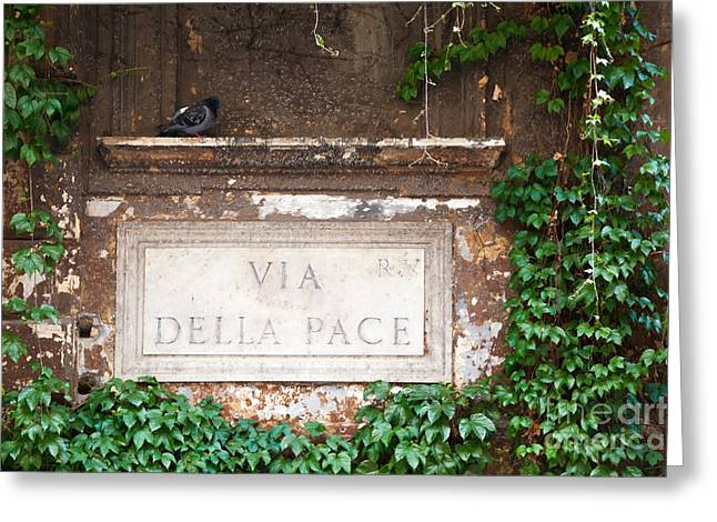Via Della Pace Greeting Card by Matteo Colombo