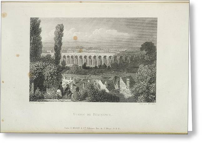 Viaduc De Beaugency Greeting Card by British Library