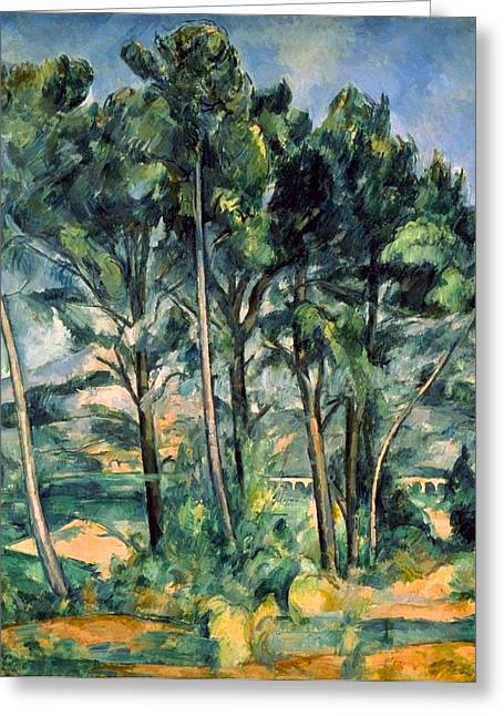 Viaduct Greeting Card by Paul Cezanne