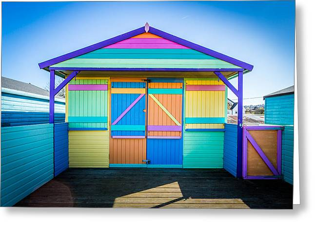 Vibrant Beach Hut Greeting Card
