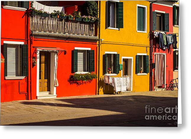 Vibrant Burano Greeting Card