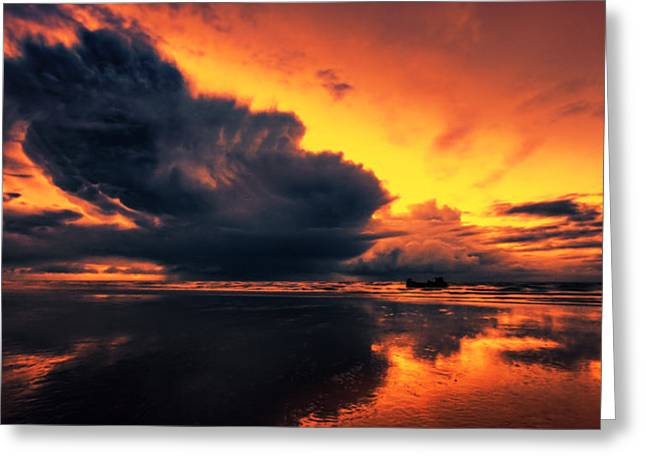 Vibrant Dawn Greeting Card by Mark Leader