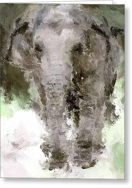 Vibrant Elephant Greeting Card