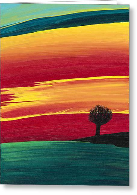 Vibrant Evening Greeting Card by Melissa F Kaelin