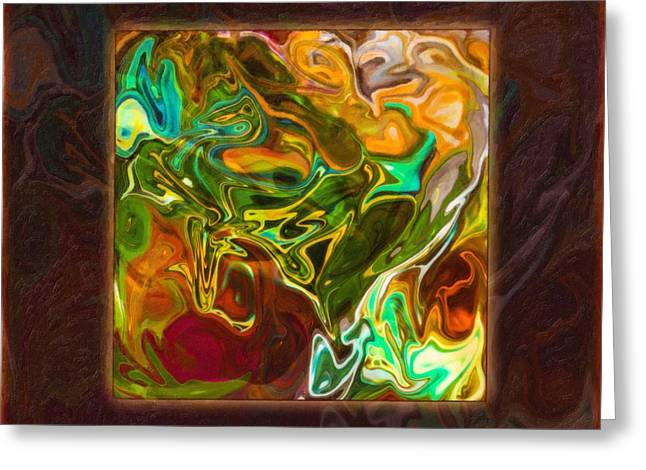 Vibrant Fall Colors An Abstract Painting Greeting Card