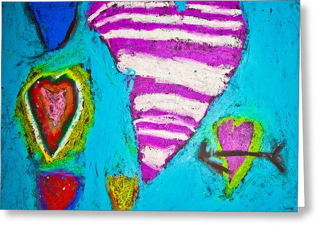 Greeting Card featuring the photograph Vibrant Love by Sara Frank
