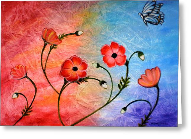 Vibrant Poppies Greeting Card