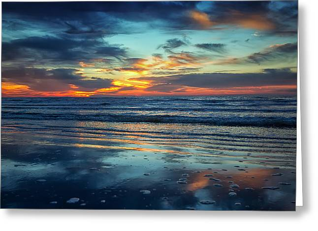 Greeting Card featuring the photograph Vibrant Sunrise  by Sharon Jones