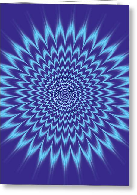 Vibrating Colors Greeting Card by Gianni Sarcone