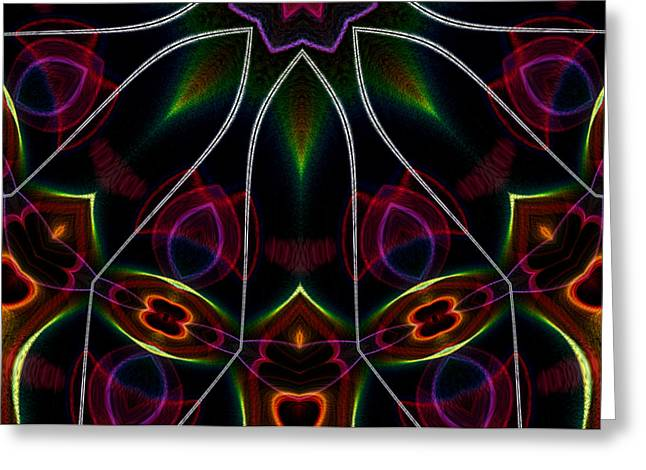 Vibrational Tendencies Greeting Card by Owlspook