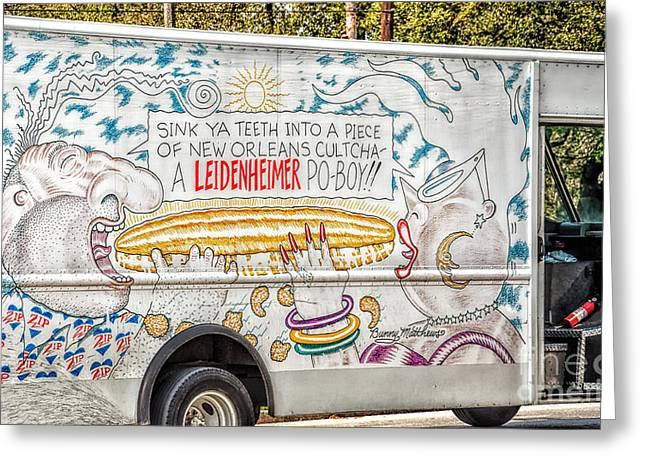 Vic And Nat'ly And The Leidenheimer Po-boy Truck - New Orleans Greeting Card by Kathleen K Parker