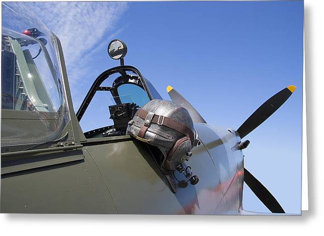 Vickers Spitfire Greeting Card by Daniel Hagerman