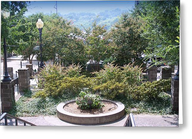 Vicksburg Plaza Greeting Card by Donnell Carr