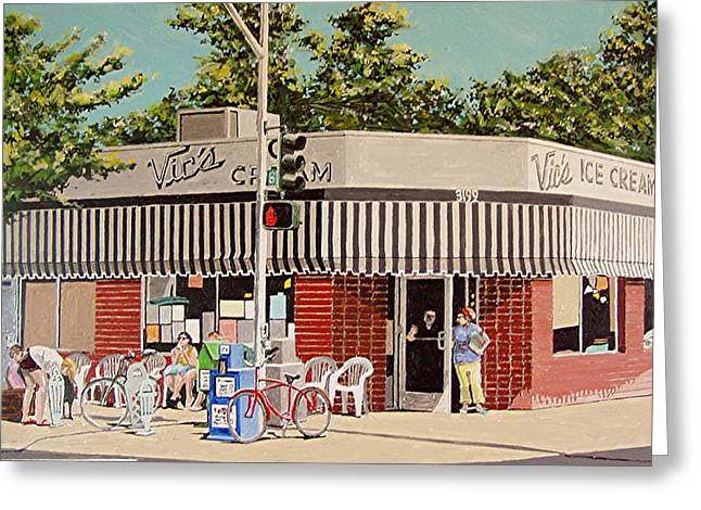 Vic's Ice Cream No. 3 Greeting Card by Paul Guyer