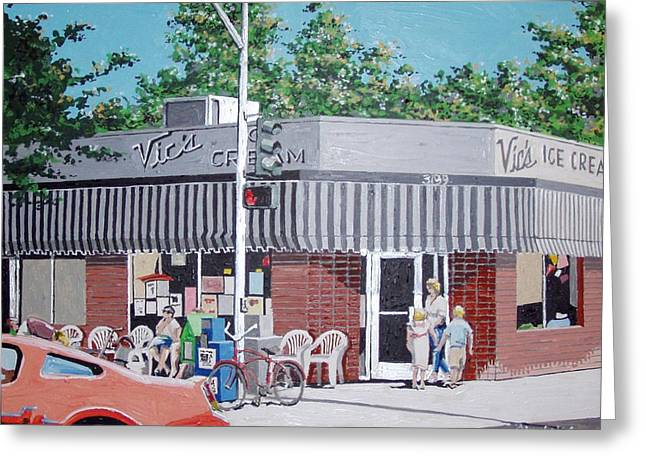 Vic's Ice Cream No. 4 Greeting Card by Paul Guyer