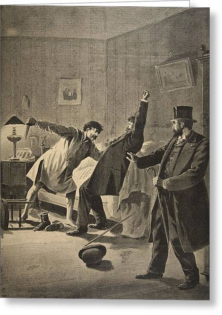 Victim Of Duty, Illustration From Le Greeting Card by French School