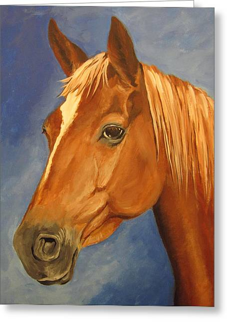 Greeting Card featuring the painting Victor by Carol Hart