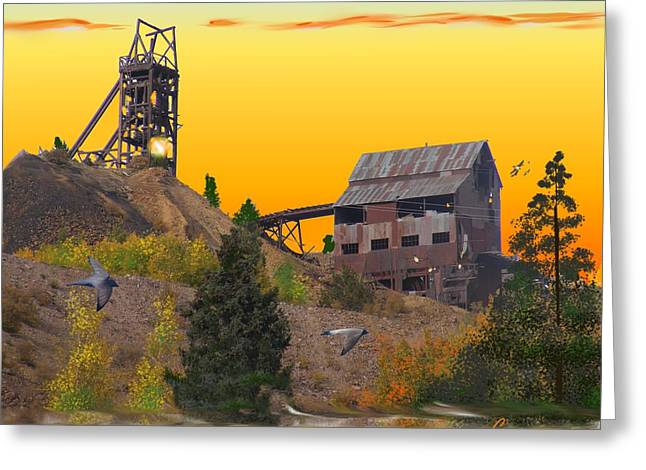 Victor Colorado Gold Mine Greeting Card