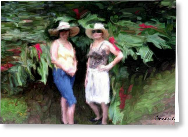 Greeting Card featuring the painting Victoria And Friend by Bruce Nutting