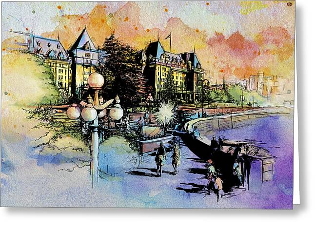 Victoria Art Greeting Card by Catf