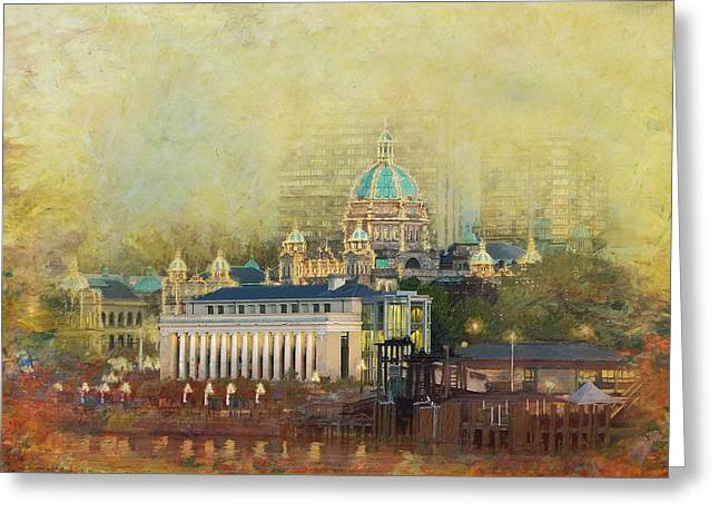Victoria Bc Canada Greeting Card by Catf