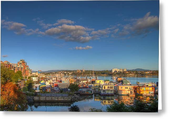 Victoria Bc Fisherman's Wharf Greeting Card by Jit Lim
