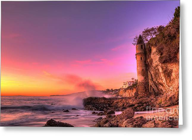 Victoria Beach At Sunset Greeting Card