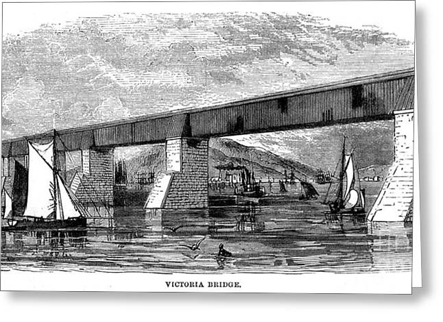 Victoria Bridge - Quebec - 1878 Greeting Card