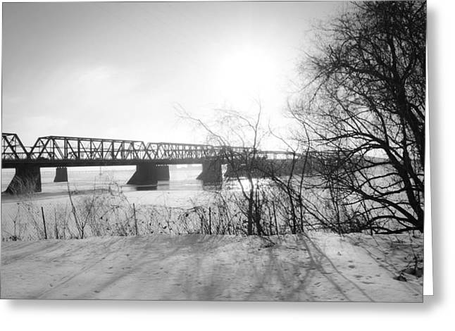 Victoria Bridge 4 Greeting Card by Eric Soucy