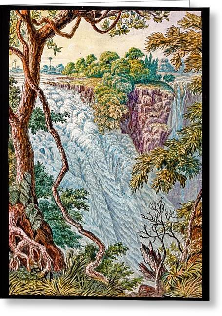 Victoria Falls And Island Greeting Card