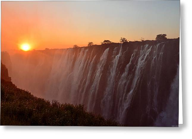 Victoria Falls At Sunset Greeting Card