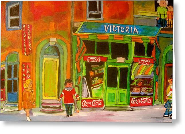 Victoria In Westmount Greeting Card by Michael Litvack