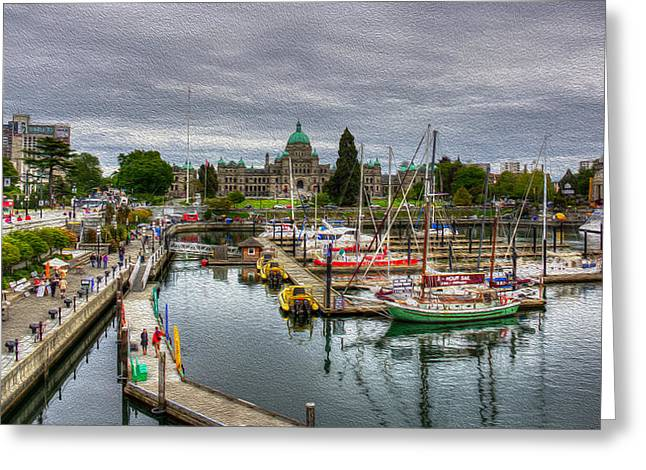 Victoria Inner Harbour Greeting Card