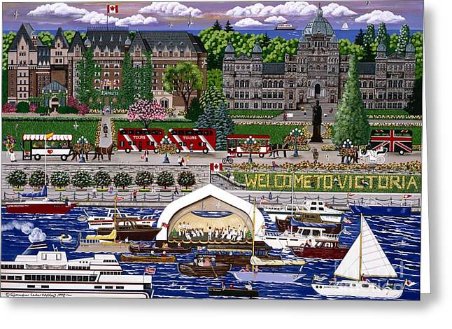 Greeting Card featuring the painting Victoria  by Jennifer Lake