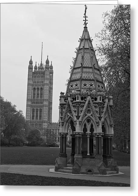 Greeting Card featuring the photograph Victoria Tower Garden by Maj Seda