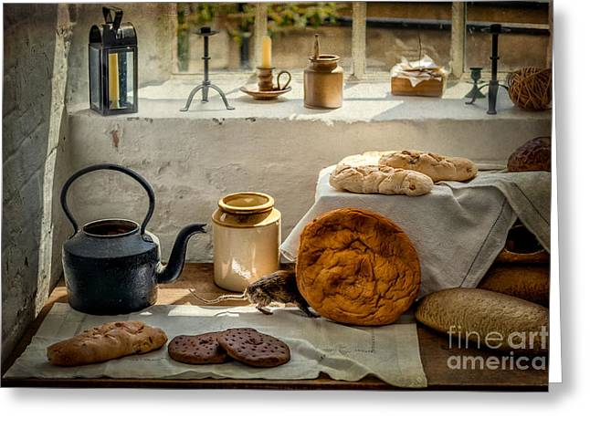 Victorian Bakery Greeting Card by Adrian Evans